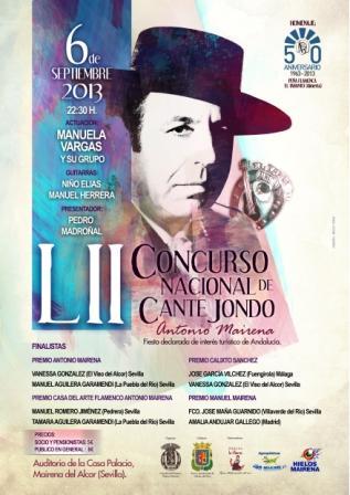 Bodega la Pitarra patrocina el Concurso Nacional de Cante Jondo Antonio Mairena